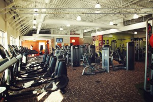 Anytime Fitness club interior with emphasis on cardio equipment. View larger image.