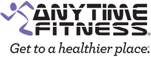 Anytime Fitness logo with 'Get to a healthier place' tagline. View larger image.