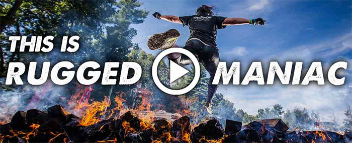 This video does not contain any essential information or narration. The video is images of Rugged Maniac participants running the obstacle course described above. The video is accompanied by a musical soundtrack. The remaining videos on that page are repeats of the previous 2 videos and can be ignored.
