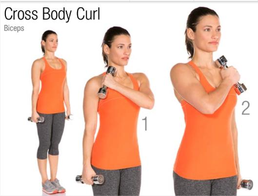 5. Cross Press Body Curls