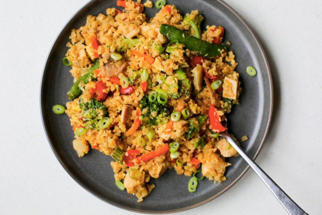Easy Chicken Fried Cauliflower Rice