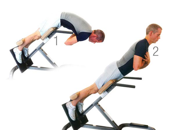man doing back extension