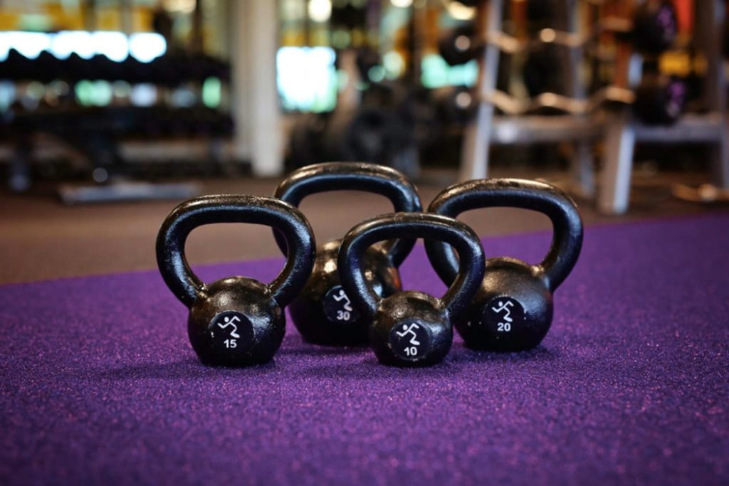 picture of kettlebells