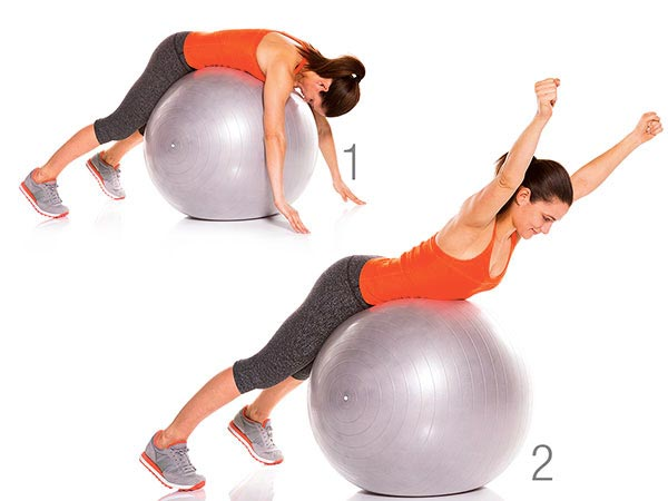 woman doing y extension